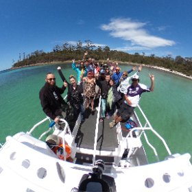 Epic day shared with great friends!  Lunch at the renowned Riedle Bay was as good as it gets 👌🍾🎉 #theta360