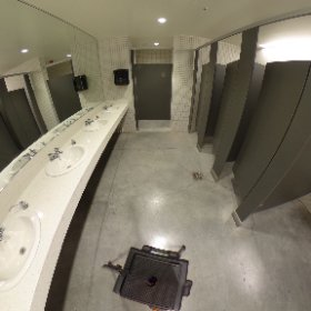Rancho Campana High School - performing arts center bathroom