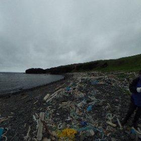 [360度撮影]知床岬でビーチクリーン活動 #theta360