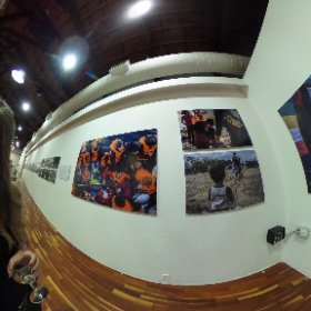 "360 selfie with award winning photographer Anna Pantelia at the Greek Asylum Service organized photo exhibit entitled ""The Itinerary"" as part of ""The future of asylum in Europe.""      #theta360"