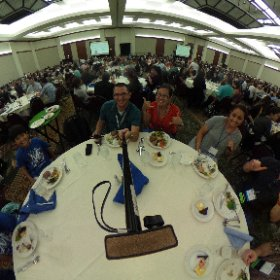 Lunch time at #SOTF2016 #HSTE!! #theta360
