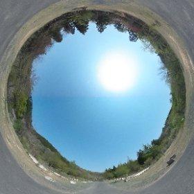 登米森林公園のオートキャンプサイト(キャンピングカーエリア付近)
