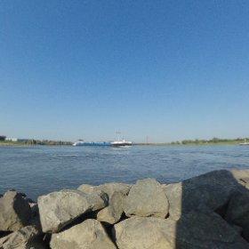 Sonne am Rhein #rhein #duisburg #theta360