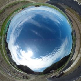 平成26年8月30日 薄磯の平場で撮影した全天球写真です