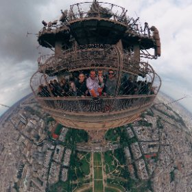 360° at top of Eiffel Tower (Paris, France) #theta360