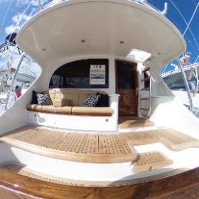 The cockpit of the new Winter Custom Yachts 60 - Wolverine.