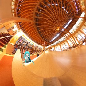 Akita International University Nakajima Library #miku360 #theta360