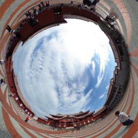 首里城 全天球写真です。