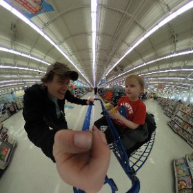 Shopping at the local big box store. #theta360