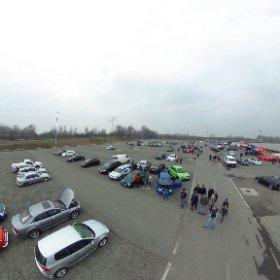 """Crazy Ride Emsland  Zum """"Carsamstag"""" werden einige hundert Teilnehmer erwartet. Für sie und für alle Besucher gibt es ein umfangreiches Rahmenprogramm. #theta360 #theta360de"""