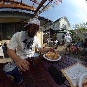 前田屋でピザ焼きワークショップ! #theta360