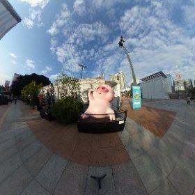 McDull the famous comic pork, Hong Kong Avenue of Comic Stars #theta360