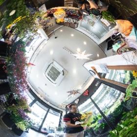 京都市南区、木村花店様の撮影風景 #theta360