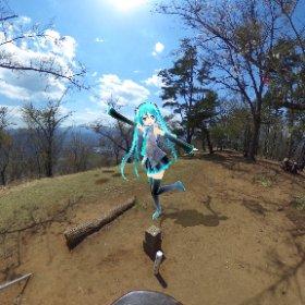 百蔵山 #miku360 #theta360