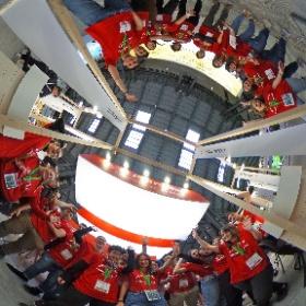Foto 360 dels informadors UPF del Saló de l'Ensenyament 2019
