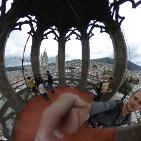From way back in Quito, atop the Basílica de Voto Nacional.  #theta360
