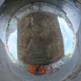 Under the canal bridge at Viewforth in Edinburgh #theta360