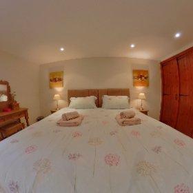 'Woodside' Master bedroom. Riverside Cottages, High Bentham. #theta360 #theta360uk