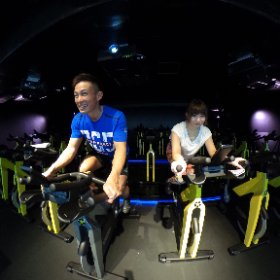 VRサイクルプログラム「THE TRIP」@ Cycle & Studio R Shibuya #theta360