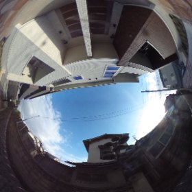 松山市の賃貸アパート、サンリットはなみずきKの敷地南側