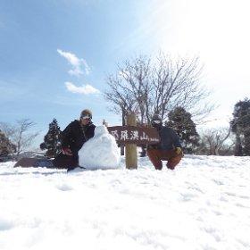 恐羅漢頂上でオヤジボーダー2人。 #恐羅漢 #theta360