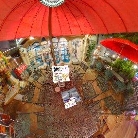 360 spherical image front courtyard 360 spherical  Barcelona Gaudi Restaurant is a bona fide spanish Tapas menu in Suk Soi 23 Bangkok, SM hub https://goo.gl/EcAJYG   #Butterfly3d #theta360