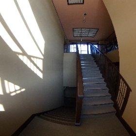 会議室近くの階段。 #theta360