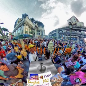 Erawan Shrine is a hot tourist attraction located in the centre of town next to BTS skytrain station, open day and evening, Thai dance performances, SM hub http://goo.gl/8wu6ye   BEST HASHTAGS #BkkErawanShrine   #BkkShrine  #BkkAttraction