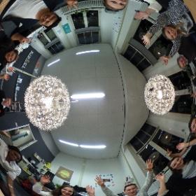 Vanavond de eerste selectie sessie gehad voor het Social HUB team van Mise en Place! #360gradenfoto #theta360