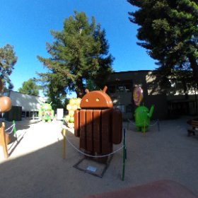 Inside the Android statue garden #theta360