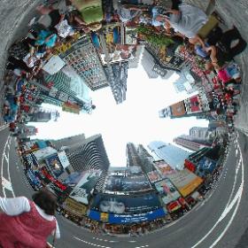 2001年7月 ニューヨークのタイムズスクエアで撮影した全天球パノラマ。  #THETAじゃない360 #old360