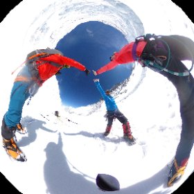 Ready for a final #summit push on #Everest. The beast is between Pasang Bhote and myself. #theta360 #theta360uk