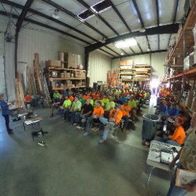 Success starts with #safety! Our quarterly safety meeting and everyone is all ears! #WeDontCoast #theta360