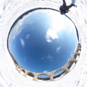 2月のタウシュベツ川橋梁360°写真 #theta360