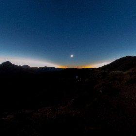 皆既日食中の空.  ChileのVicuña近郊にて. #theta360