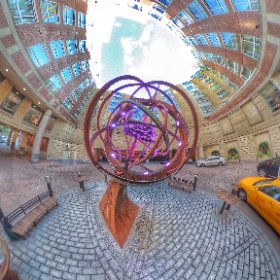 There's a great steampunk piece at our hotel in Cambridge. #theta360