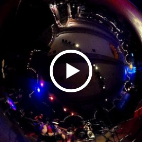 March 4th playing Nirvana at the Yahoo! Christas Party 2014, Crystal ballroom #riveted #theta360