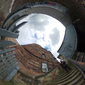 Morningside Station from the iron railing #theta360
