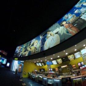 いまどき珍しい #ジブリ 推しな映画館。#ナウシカ とか #ラピュタ とか懐かしい。館長が好きなのかな?  @イオン鈴鹿109シネマズ #theta360