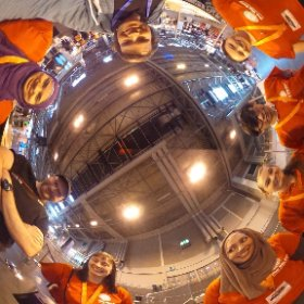 Giant Drawing Machines helpers at Big Bang Fair, Birmingham NEC #theta360