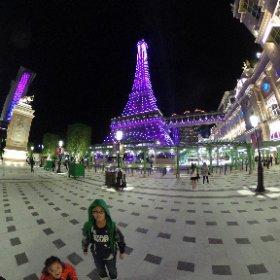 巴黎人夜景 #momiji #theta360