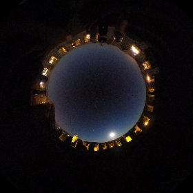 Sky over Sigüenza with Moon from the castle #theta360