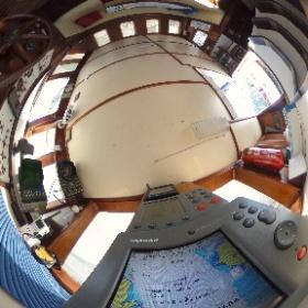 Cockpit e navegação do Veleiro Pangeia