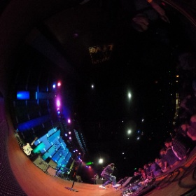 360 shot of @thebulbey performing at yesterday's Beyond the Bars show at World Cafe Live | #Philly #VR #theta360