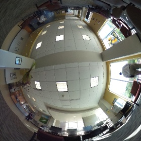 Riverview lobby/computer lab #theta360