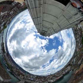360°-Blick vom Turm des Grossmünster Zürich 3/4 #visitZurich #theta360