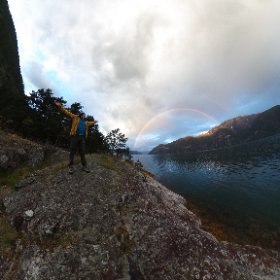 Rainbows on the fjord