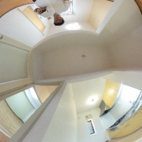 横浜市港南区日野にあります「アムール港南」3DKマンションのダイニングキッチンパノラマ風景です。システムキッチンに変更済みです。物件詳細はこちらhttp://www.futabafudousan.com/bukken/g/syousai/553dat.html #theta360