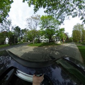 Sylvia Plath's house (east side) at 26 Elmwood Road, Wellesley, on 11 May 2018.  #theta360 #theta360