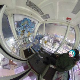 ノルベサの陥落に乗ってきました。 ミクさんラッピング素敵 #miku360 #SNOWMIKU2020  #theta360